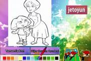 Dora ve Annesini Boyama
