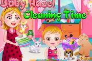 Hazel Bebek Temizlik Yapıyor